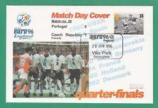 FOOTBALL  -   STAMP  COVER  ENVELOPE  FOR  EURO  96  -  MATCH  NO.  28  -  1996