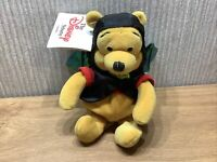 """Disney Store Winnie The Pooh Plush Soft Toy Bat Costume  8"""" Collectible NEW"""