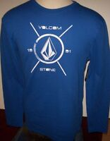 NEW Volcom Stone royal blue thermal long sleeve shirt  small medium or XL