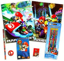 Nintendo Super Mario School Supplies Set - Pencils, Folders, Erasers and More (