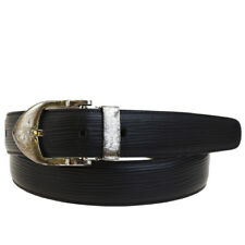 Authentic LOUIS VUITTON Ceinture Classic Belt Epi Leather Black #85/34 02BE185