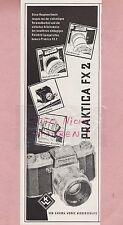 NIEDERSEDLITZ, Werbung 1958, VEB Kamera-Werke Praktica FX 2