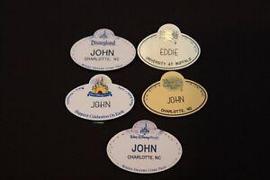 Lot of Disney Cast Member Magnetic Name Tag Badge