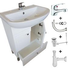 Waschbecken Unterschrank Badset Hochglanz MDF Lackiert Badartmatur Badschrank 60