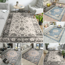 🌟4 Size Persian Style Printed Flannel Floor Carpet Rug Mat Livingroom  D