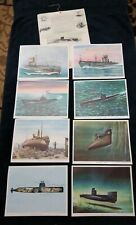 Submarine Prints GENERAL DYNAMICS CORP. ELECTRIC BOAT DIVISION Lithos Set 1950's