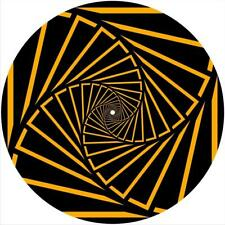 "Slipmat Scratch Pad Felt for 12"" Turntable LP DJ Record Player SPIRAL SQUARES"