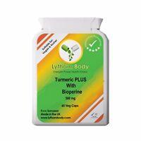 Turmeric Pure Organic Curcumin Bioperine Antioxidant Tumeric Detox x 60 Capsules