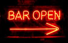 """New Bar Open Arrow Beer Neon Light Sign 17""""x14"""""""