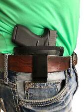 GLOCK 17 20 21 31 38 BLACK LEATHER IWB GUN HOLSTER