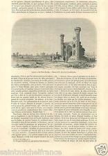 Lahore Fort Shahi Qila Tchar-Bardjia Pakistan 2 GRAVURE ANTIQUE OLD PRINT 1858
