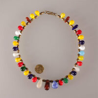 7345 Old Trade beads glass Bohemian  Wedding