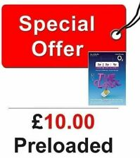NEW £10 POUNDS PRELOADED O2 PAY AS YOU GO SIM CARD WITH £ 10 CREDIT DEAL OFFER .