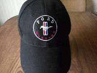 MUSTANG FORD  Hat Black With Pony Logo Red White & Blue. Adjustable Cobra GT 427