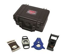 F.e.s.s F18 Durable Rugged Waterproof Active Travel 18 Cigar Humidor with 4 Piec