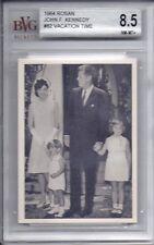 JOHN F. KENNEDY 1964 Rosan Print #62 BVG 8.5 NM-MT+ Vacation Time VINTAGE Card