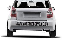 Custom Website Personalized Advertising Vinyl Decal Sticker Car Van Pickup