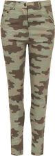 Pantaloni da donna verde in misto cotone