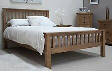 Tilson solid rustic oak bedroom furniture 5' king size bed