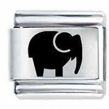 ELEPHANT * Daisy Charms Fits Nomination Classic Size Italian Charm Bracelet