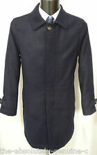 AQUASCUTUM Navy BLUE Slightly Padded/Quilted Coat  WOOL Mix BNWT XS