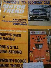 Vintage MARCH 1971 MOTOR TREND Magazine 108pp Vintage ADS, Articles