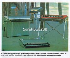 60s Combo Organ Guide Farfisa Compact Vox Fender 1993 KEYBOARD Magazine EXC COND
