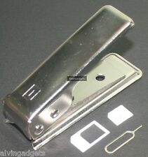 Nano Sim Card Cutter For Apple iPhone 5 iPad Mini With 2 Adaptor & Ejector Pin
