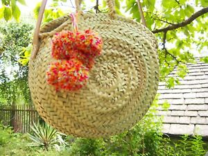 Moroccan Handmade Straw Beach Bag