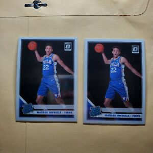 2x Lot 2019-20 Donruss Optic Rated Rookie Matisse Thybulle RC #192