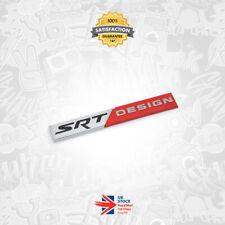 Chrysler SRT Design Badge 3D OEM Emblem Aluminium Logo Boot Wing Dodge SRT8  60