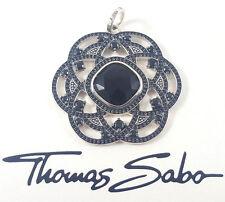 Thomas Sabo Anhänger UVP-498 € PE679-641-11 Sterling Silber schwarze Steine