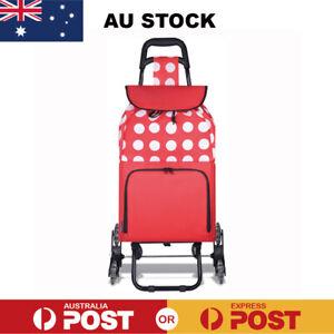 Shopping Trolley Cart Foldable Grocery Basket Market Luggage Bag Wheels Carts