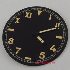 38.9mm black California dial orange pure sterile fit ETA 6497/98 mens watch D125