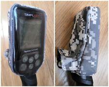 Rainproof, dirtproof cover case for Nokta Makro Simplex+, colour Grey Pixel