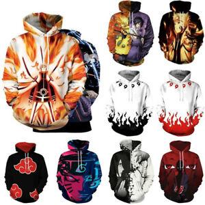 Naruto0 3D Print Hoodie Anime Hooded Sweatshirt Casual Jacket Cosplay Costume