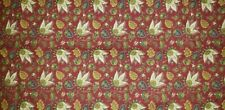 LOT OF 2 Country Curtains 50X66 Cotton Panels burgundy red leaves paisley lined