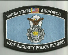 USAF SECURITY POLICE RETIRED patch 3-1/8 X 4-1/2 #8187