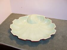 MID-CENTURY RED WING GREEN/PEACH COLOR SHELL PLATTER/CENTERPIECE B2501