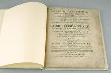 THESE ANCIENNE MEDECINE 1762 De aere et alimentis militum DIEZ Sigwart Livre