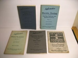 1915-1917 AUTO ELECTRIC SYSTEMS BOOKLET LOT DELCO AUTOMOBILE STARTERS LIGHTING