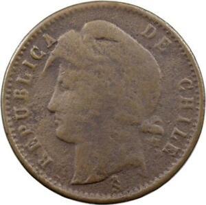 CHILE - 1/2 CENTAVO - 1884 - COPPER