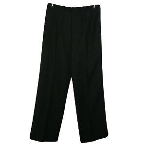 NEW Black Gabardine Knit Pants Size 16 XL Alfred Dunner Pull ON Elastic Waist