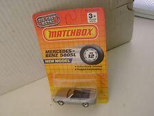 1990 MATCHBOX SUPERFAST MB12 #12 SILVER MERCEDES BENZ 500SL CONVERTIBLE NEW MOC