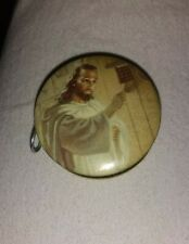 Miniature Pocket Measuring Tape Jesus Christ On One Side Gold on other 1 1/2