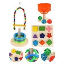 4 Sets Parrot Educational Toys Set Parrot Trick Tabletop Toys