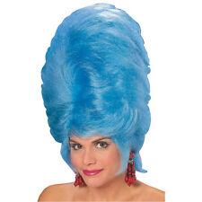 Retro 60's Big Hair Beehive Wig Blue Marge Simpson
