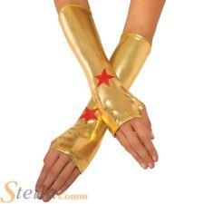Ladies Wonder Woman Gauntlets Super Hero Fancy Dress Costume Accessory