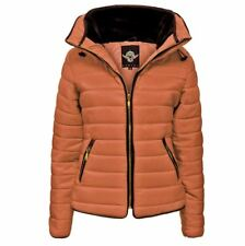 Ladies-Puffer-Padded-Quilted-Fur Collar-Jacket XS- 5XL