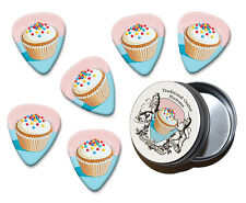 Fairy Cake Martin Wiscombe 6 X Guitar Picks In Tin Vintage Retro